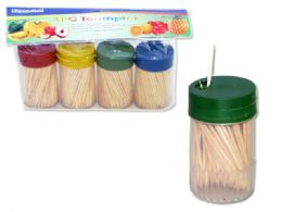 96 Units of 4 Pack Toothpick Set 150 In Each - Toothpicks
