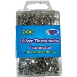 48 Bulk Thumb Tacks, Silver, 200 Ct.,
