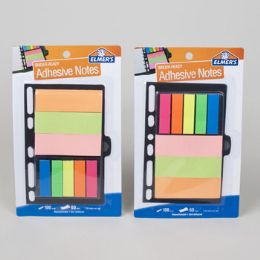 96 Wholesale Binder Notes 3 X 5 Elmers Asst Colors Notes Ands Flags