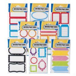 96 Wholesale 30-60 Count Self Stick Labels