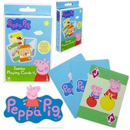 48 Bulk Nickelodeon's Peppa Pig Jumbo Playing Cards.