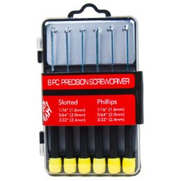 24 Units of 6pc Precision Screwdriver Set In Storage Box Hrdw/sleeve - Screwdrivers and Sets