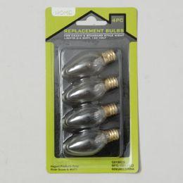 96 Bulk Replacement Light Bulb 4pk 4W-120v 12pc Merchandising Strip Blister Carded