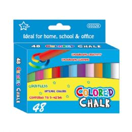96 Units of Forty Eight Count Colored Chalks - Chalk,Chalkboards,Crayons