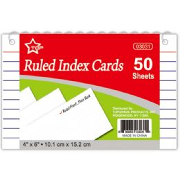 144 Wholesale Index Card Fifty Count