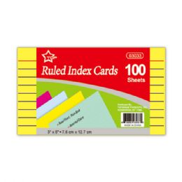 144 Wholesale Index Cards Hundred Count Colored
