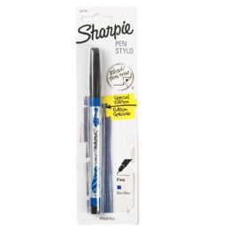 144 Units of Permanent Marker 1ct Sharpie Blue And Black Asst Crded - Markers and Highlighters