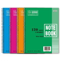 72 Bulk 3 Subject 120 Count Notebook