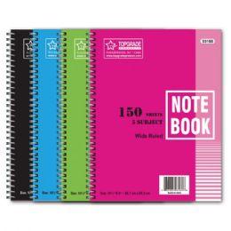 72 Bulk Five Subject Spiral Notebook