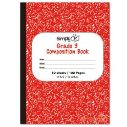 72 Bulk 50 Count Primary Composition Book Red