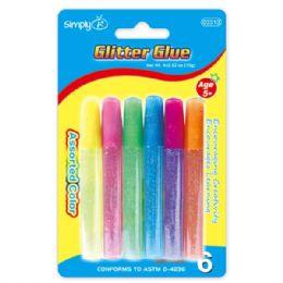 96 Bulk 6 Piece Glitter Glue