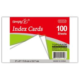108 Units of 100 Count Unruled Index Card - Dividers & Index Cards