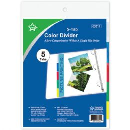 96 Wholesale Three Ring Binder Dividers With Five Tabs