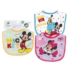 72 Units of Disney Mickey Baby Small Bibs - Baby Apparel