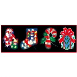 """24 Units of 14""""-20l Sculpture/stocking - Christmas Stocking"""