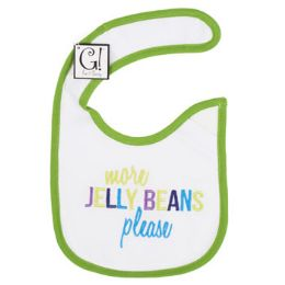 """144 Units of """"more Jelly Beans Please"""" Baby Bib - Baby Accessories"""
