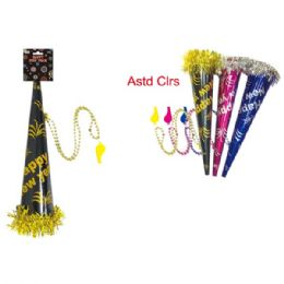 """96 Units of 15"""" Horn With Whistle - New Years"""