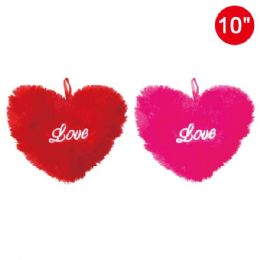 """96 Units of 10"""" Embroidery Velvet Heart - Valentine Cut Out's Decoration"""