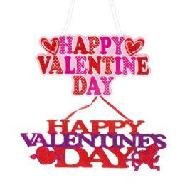 "96 Units of V-Day Plaque 18x5.7"" - Valentine Gift Bag's"