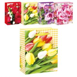72 Wholesale Floral Bag Mothers Day
