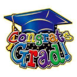 """96 Units of 17""""graduate 3d Cutout - Graduation"""