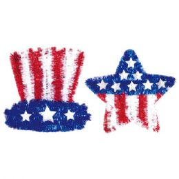 108 Units of July 4 Tinsel Decoration - 4th Of July