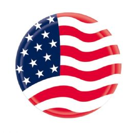 96 Units of 8 Count Paper Plate Flag - 4th Of July