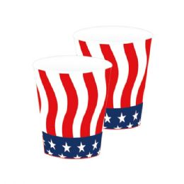 120 Units of 8 Count Paper Cup Flag - 4th Of July