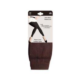 48 of Women's Fleece Lined Leggings In Coffee