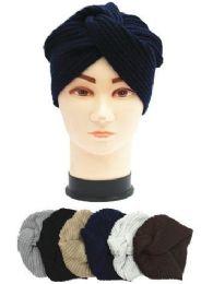 36 Bulk Ladies Fashion Winter Knit Turban Hat