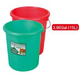 36 Units of 15l Plastic Bucket - Buckets & Basins