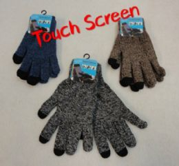 48 Units of Touch Screen Gloves [variegated] - Conductive Texting Gloves
