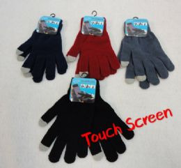 48 Units of Solid Color Touch Screen Gloves Assorted Colors - Conductive Texting Gloves