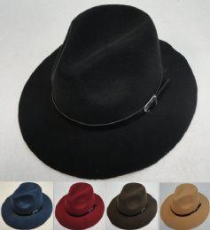 24 Units of Small Brim Felt Western Hat [buckled Hat Band] - Fedoras, Driver Caps & Visor