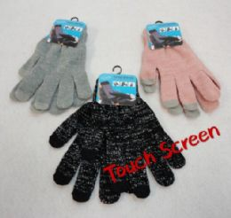24 Units of Women's Touch Screen Gloves - Conductive Texting Gloves