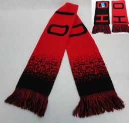 24 Units of Ohio Knitted Scarf With Fringe - Winter Scarves