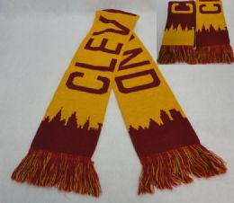 48 Units of Cleveland Skyline Knitted Scarf With Fringe - Winter Scarves