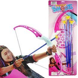 48 Bulk 4 Piece Pink Archery Sets