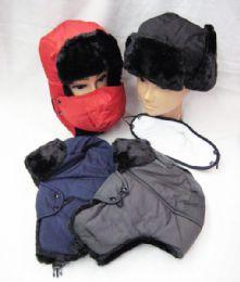 36 Bulk Mens Winter Pilot Hat Assorted