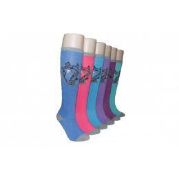 240 Units of Ladies Printed Knee High Sock - Womens Knee Highs