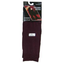 360 Bulk Ladies Trouser Socks Size 9-11 - Burgundy