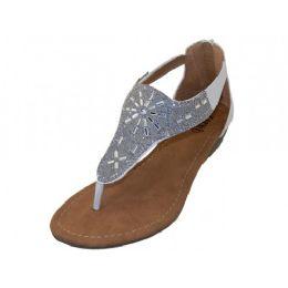 18 Units of Women's Rhinestone Sandals White Color - Women's Sandals