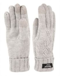 24 Units of Thermal Knit Glove With Screen Touch Assorted Color - Conductive Texting Gloves