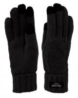 24 Units of Thermal Knit Glove With Screen Touch In Black - Conductive Texting Gloves