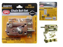72 Units of Chain Bolt 2 Piece /set - Padlocks and Combination Locks