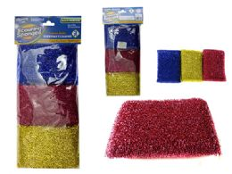 "96 Units of Scouring Sponges 3 Piece 5x3"" - Scouring Pads & Sponges"
