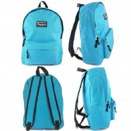 """24 Units of 16.5"""" Track Backpacks In Lt. Blue Color - Backpacks 16"""""""