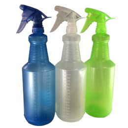 48 Units of Spray Bottle 34 Ounce Assorted Colors - Spray Bottles