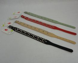 """36 Units of 15"""" Dog Collar [studs & Spikes] - Pet Accessories"""