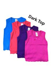 36 Units of Strawberry Girl Singlet In Dark Colors - Baby Apparel
